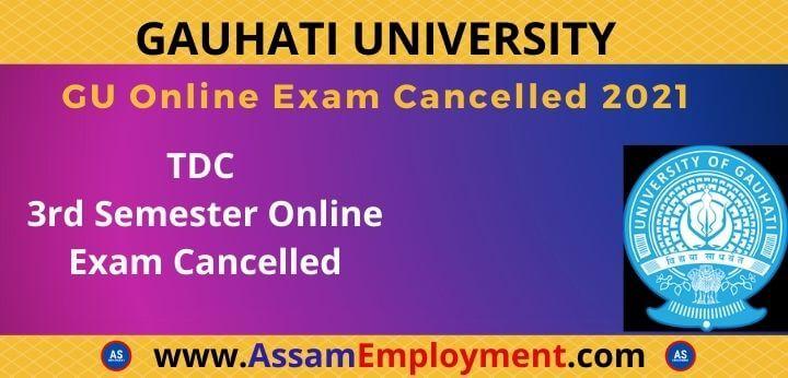 gu 3rd sem online exam cancel