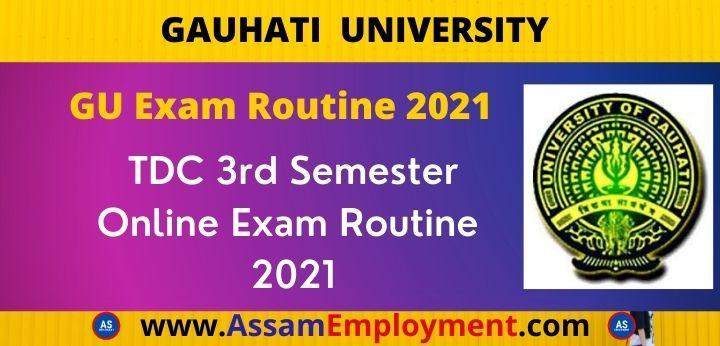 Guwahati University Exam Routine 2021