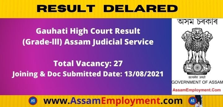 Gauhati High Court Result