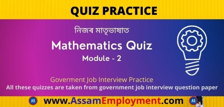 Quiz Pratice Mathematics Module 1