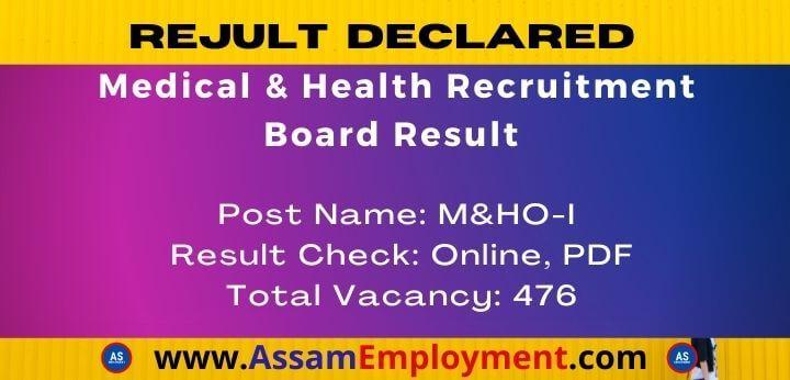 Medical & Health Recruitment Board Result